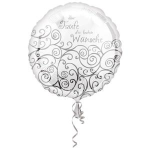 Standard Zur Taufe Folienballon Rund, S40, verpackt, 43cm | Amscan