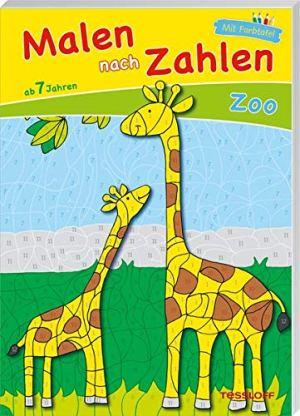 Malen nach Zahlen Zoo. Ab 7 J   Tessloff Verlag