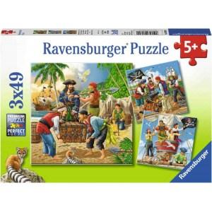 Abenteuer auf hoher See 3x49p-3 X 49 Teile | Ravensburger Spielverlag