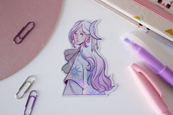 Moon sticker - shop.srtam.com