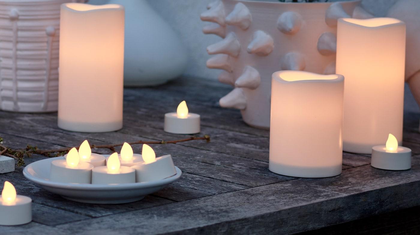 bougies led ikea