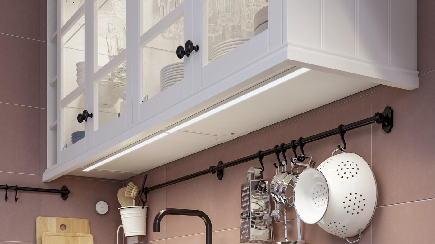led strip lights integrated cabinet