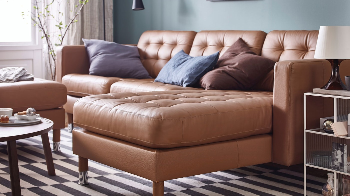 coated fabric sofas with chaise lounges