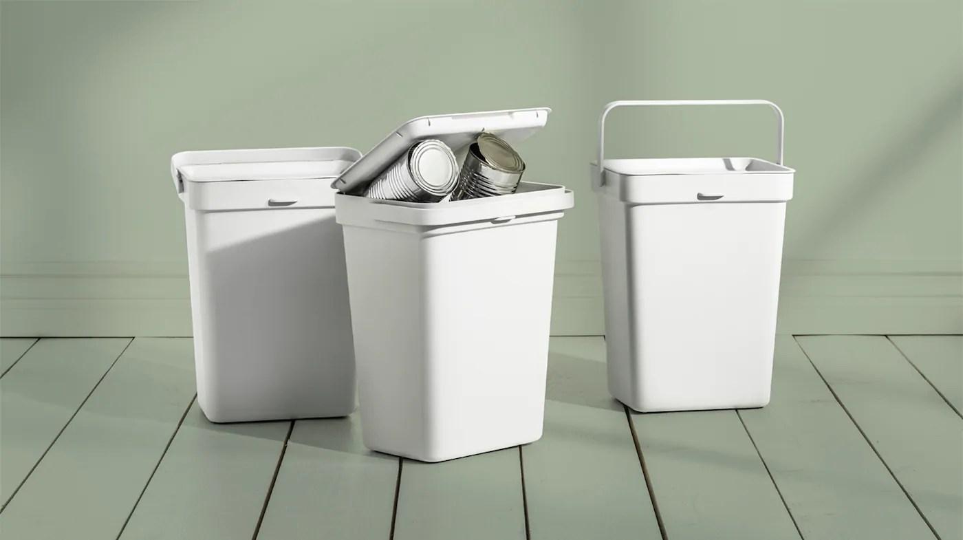 poubelles de recyclage ikea