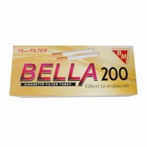 Filteri s papirom za cigarete Bella 200/1