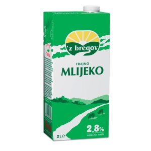 Mlijeko trajno 'z bregov 2,8% m.m. 2L, Vindija