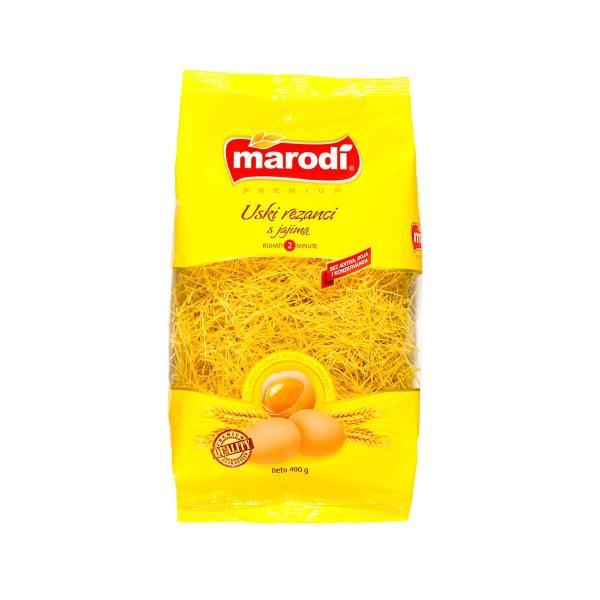 Tjestenina Uski rezanci s jajima 400g, Marodi