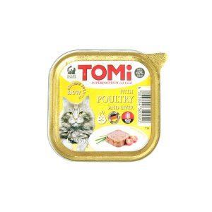 Tomi pašteta za mačke perad/jetra 100g