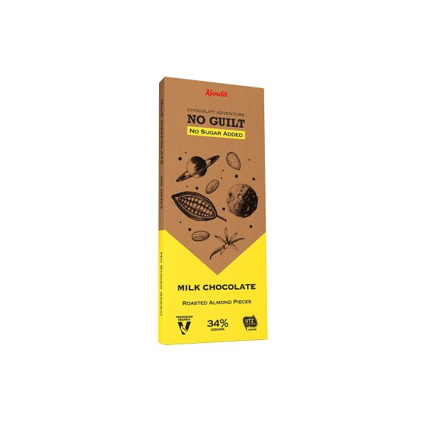 No Guilt mliječna čokolada Almond&vanilla bez dodanog šećera 80g Kandit