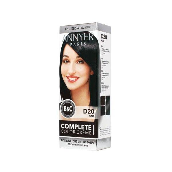 Complette Color Creme, boja za kosu D20 crna, Annyer