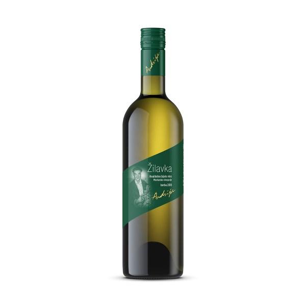 Vino kvalitetno bijelo Žilavka 1L, Podrumi Andrija