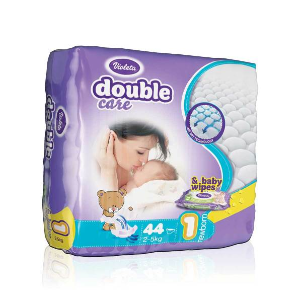 Violeta Double Care Pelene, vel.1 (Newborn) 2-5kg 44/1