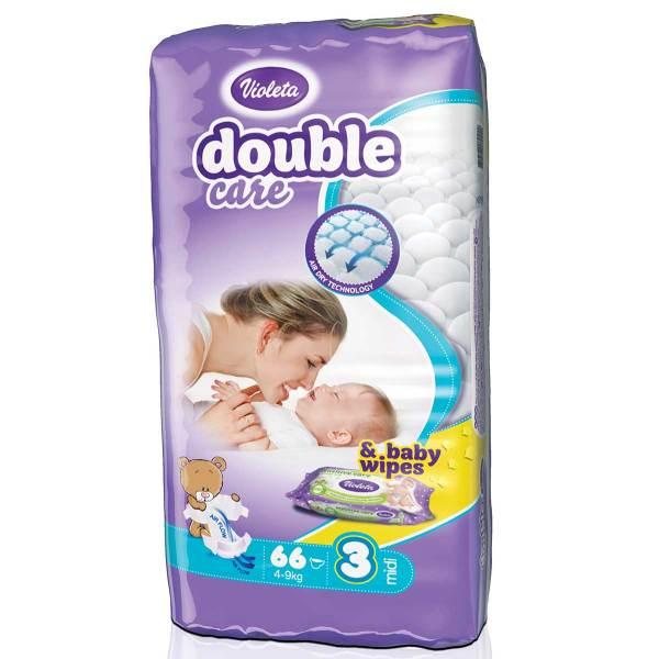 Violeta Double Care Pelene, vel.3(Midi) 4-9kg 66/1