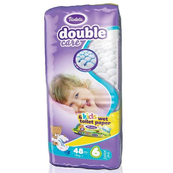 Violeta Double Care Pelene, vel.6 (Junior+) 16+kg 48/1