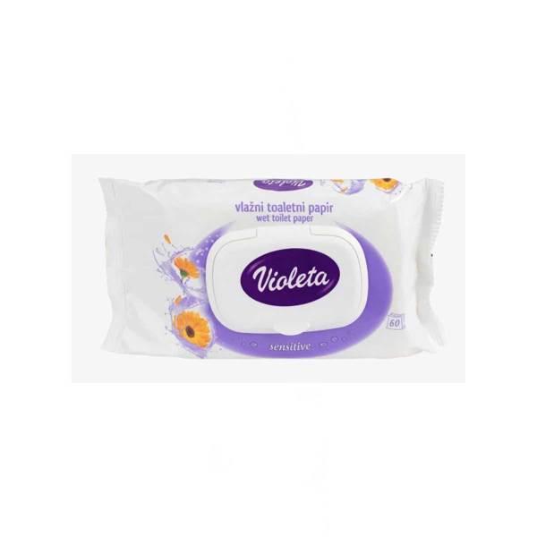 Vlažni toaletni papir sensitive s ekstraktom nevena 60/1, Violeta