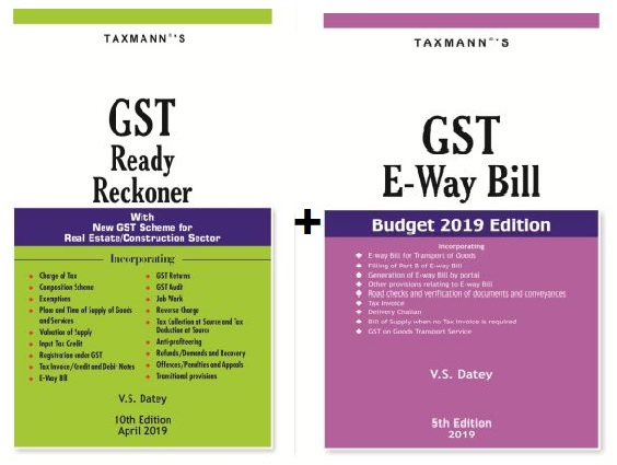 Buy Latest GST Ready Reckoner and E Way Bill
