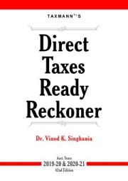 Buy Direct Taxes Ready Reckoner for A.Y 2019-20 & 2020-21 @ 25% Discount