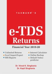 Buy or Renew Taxmann's Single User e-TDS Returns Software for F.Y. 2019-20 at 30% Discount