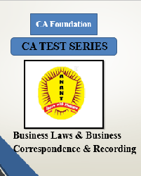 CA Foundation Business Laws & Business Correspondence & Recording Test Series By Anant Institute