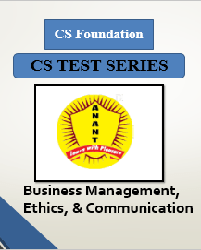 CS Foundation Business Management, Ethics, & Communication Test Series By Anant Institute
