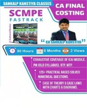 Ca Final Costing New Course Fast Track Video Lectures By Sankalp Kanstiya