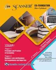 CA Foundation Solved Scanner Volume-I Paper-1,2 Regular Edition
