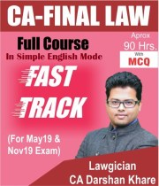 CA Final Law Fast Track Video Lectures for New Syllabus by CA Darshan Khare
