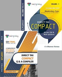 CA FINAL Combo COMPACT & Q/A Compiler Direct Tax for Old and New Syllabus both By CA Bhanwar Borana Applicable For May 2019 Exam