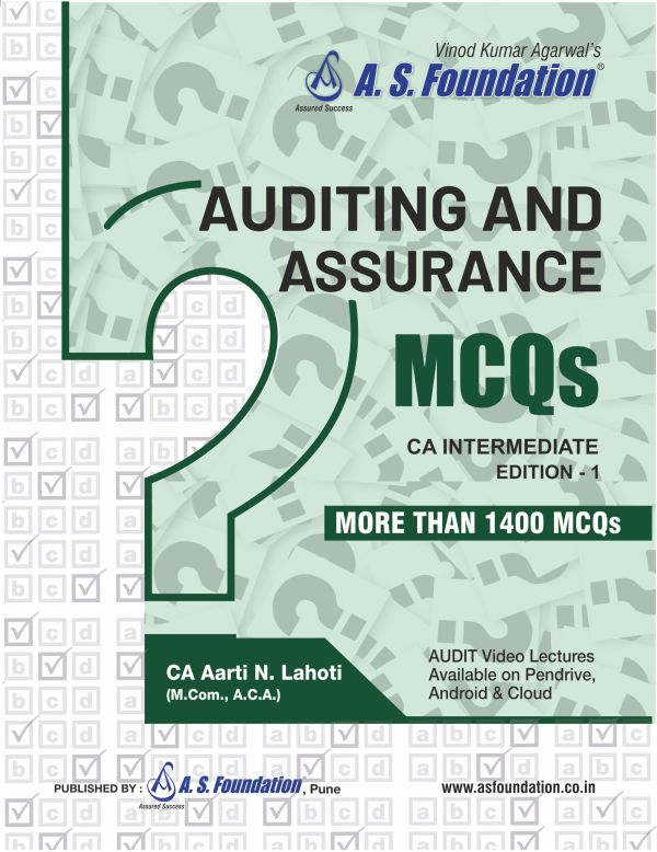 CA Intermediate Audit MCQ's Book New Syllabus By CA Aarti N. Lahoti