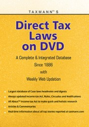 Buy or Renew Taxmann's Direct Tax Laws on DVD - A Complete Database on Direct Tax Laws Since 1886
