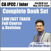 CA INTER LAW FAST TRACK REVISION COMPLETE BOOK SET BY CA DARSHAN KHARE