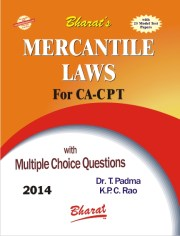 CA CPT MERCANTILE LAWS (for CA CPT) by Dr. T. Padma & K.P.C. Rao