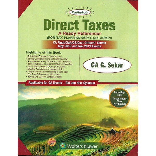 DIRECT TAX FOR CA FINAL OLD & NEW SYLLABUS