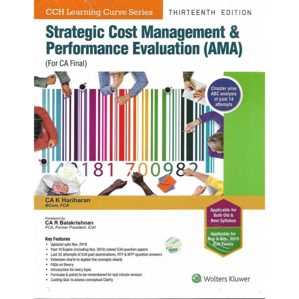 CA FINAL STRATEGIC COST MANAGEMENT & PERFORMANCE EVALUTION (AMA) BY K HARIHARAN (OLD & NEW SYLLABUS)
