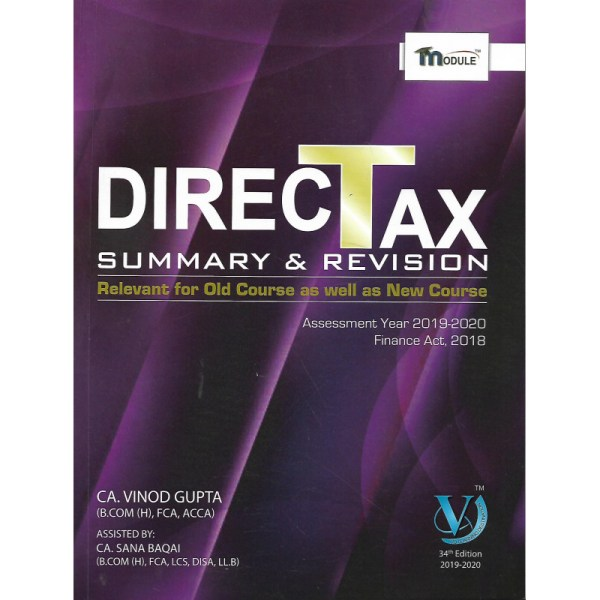 CA-FINAL DIRECT TAX SUMMARY & REVISION BY CA VINOD GUPTA (OLD & NEW SYLLABUS)