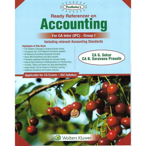ACCOUNTING BY CA G.SEKAR & CA B.SARAVANA PRASATH (OLD SYLLABUS) CA-INTER