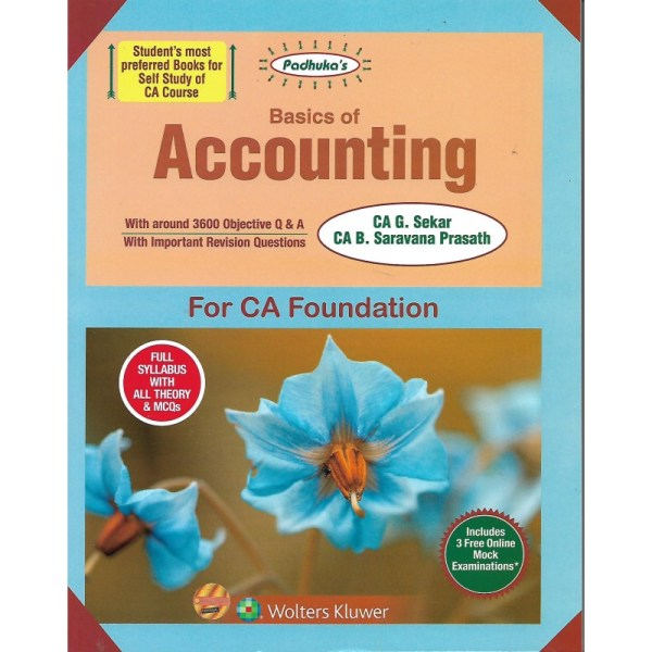 ACCOUNTING BY CA G.SEKAR & CA B.SARAVANA PRASATH FULL SYLLABUS WITH ALL THEORY & MCQS