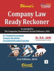 COMPANY LAW READY RECKONER [with FREE Download] by Dr. D.K. Jain