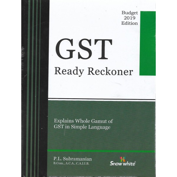 GST READY RECKONER BY P.L.SUBRAMANIAN