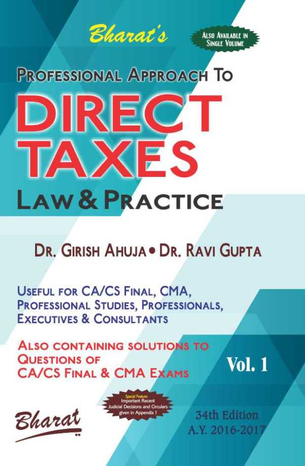CA FINAL DIRECT TAXES Law & Practice (in 2 vols.)