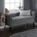 Fabric Upholstered Storage Bench Bed End Window Seat Bedroom Living Room Grey Ebay