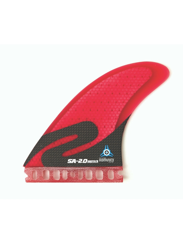 KOMUNITY PROJECT SIMON ANDERSON FUTURE SURFBOARD FINS 3.0 THRUSTER FIN SET RED