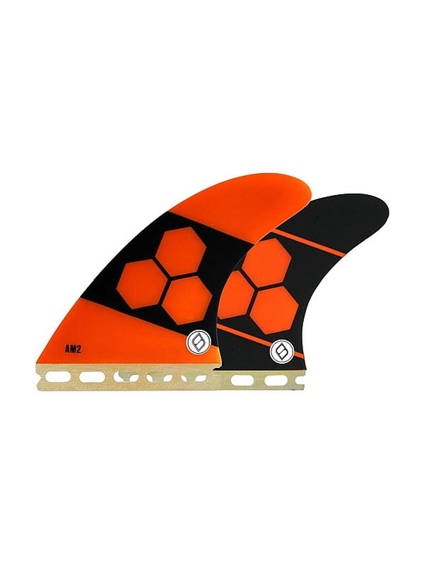 SHAPERS FINS FUTURE CORE LITE AM2 ORANGE THRUSTER FINS