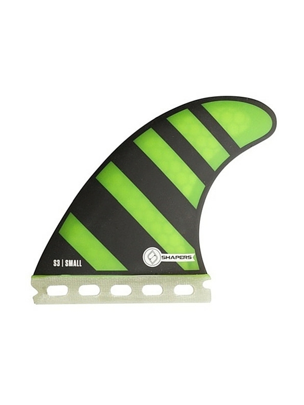 SHAPERS FINS FUTURE CORE LITE S3 GREEN ZEBRA THRUSTER FINS