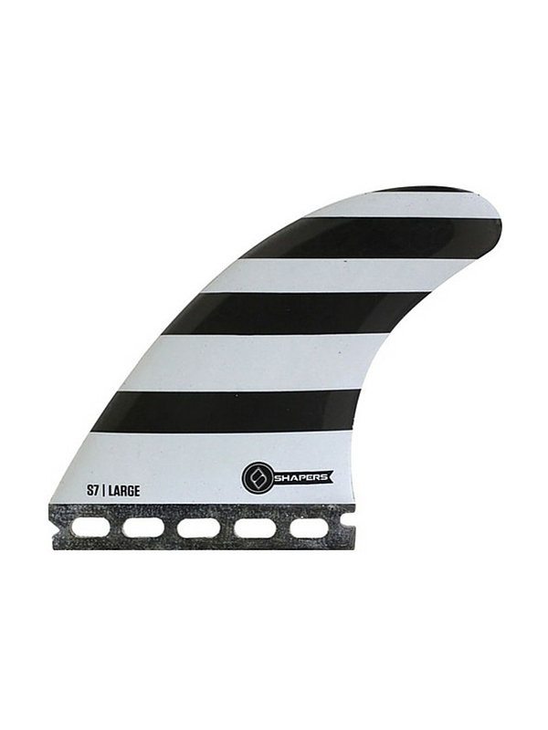 SHAPERS FINS FUTURE CORE LITE S7 WHITE-BLACK THRUSTER FINS