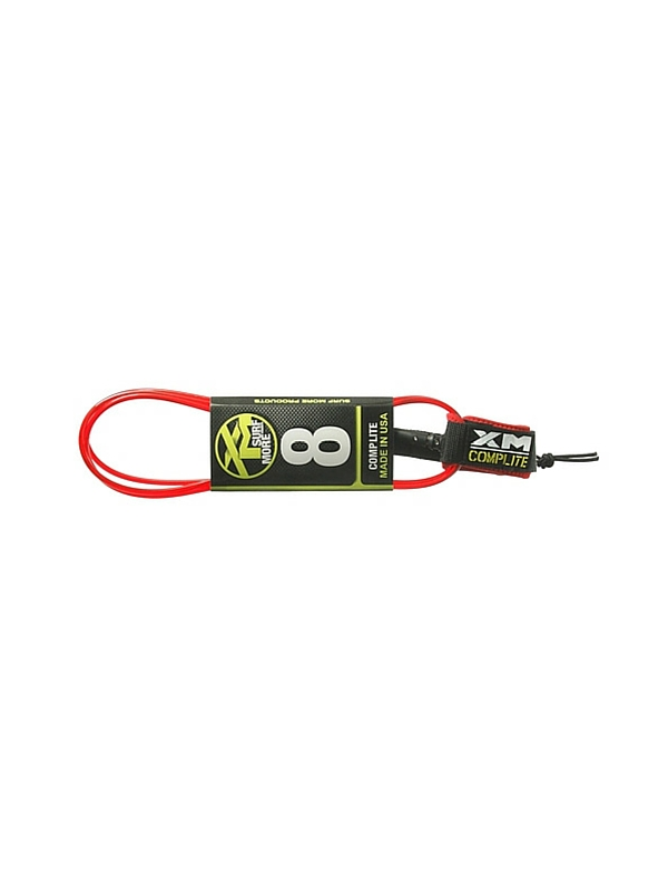 XM COMP LIGHT DOUBLE SWIVEL 8' RED SURF LEASH