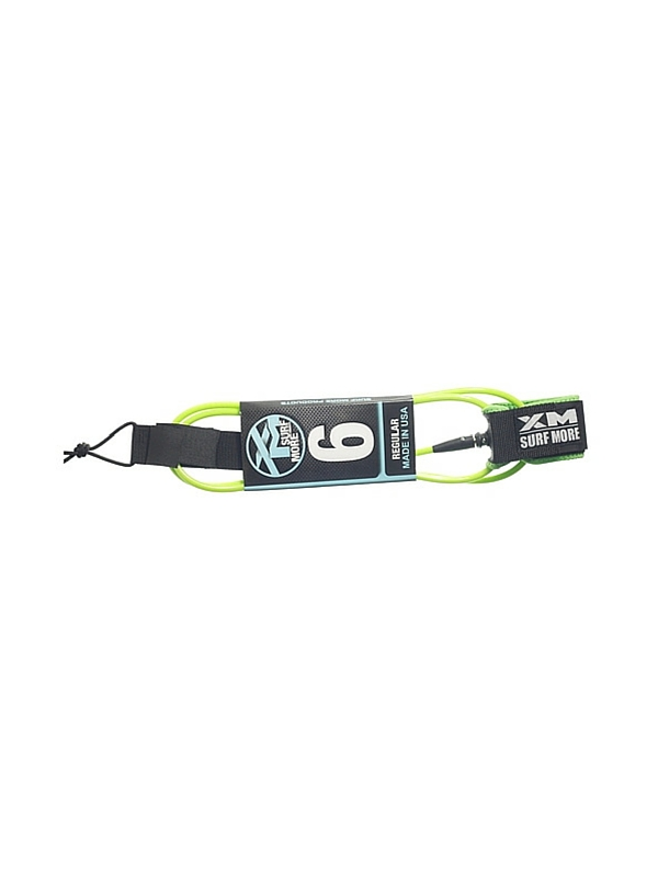 XM DOUBLE SWIVEL 6' LIME GREEN SURF LEASH