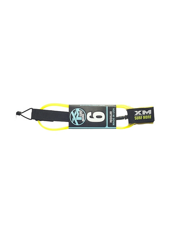 XM DOUBLE SWIVEL 6' YELLOW SURF LEASH