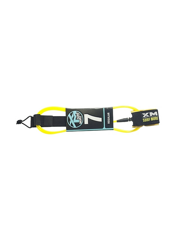 XM DOUBLE SWIVEL 7' YELLOW SURF LEASH