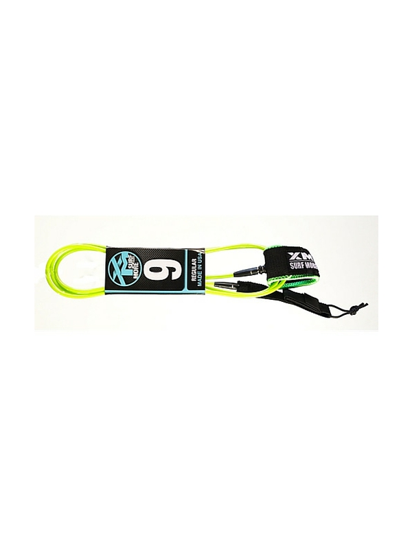 XM DOUBLE SWIVEL 9' LIME GREEN SURF LEASH